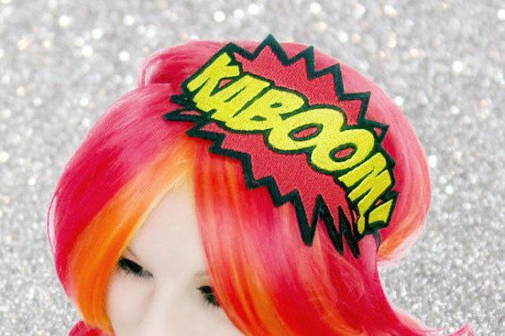 Comic Book Headband  SuperHero Headband  Supergirl Birthday