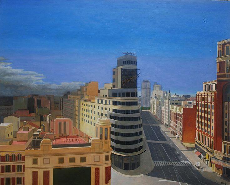 Metrópoli XI. Óleo sobre lienzo. Fernando Puente