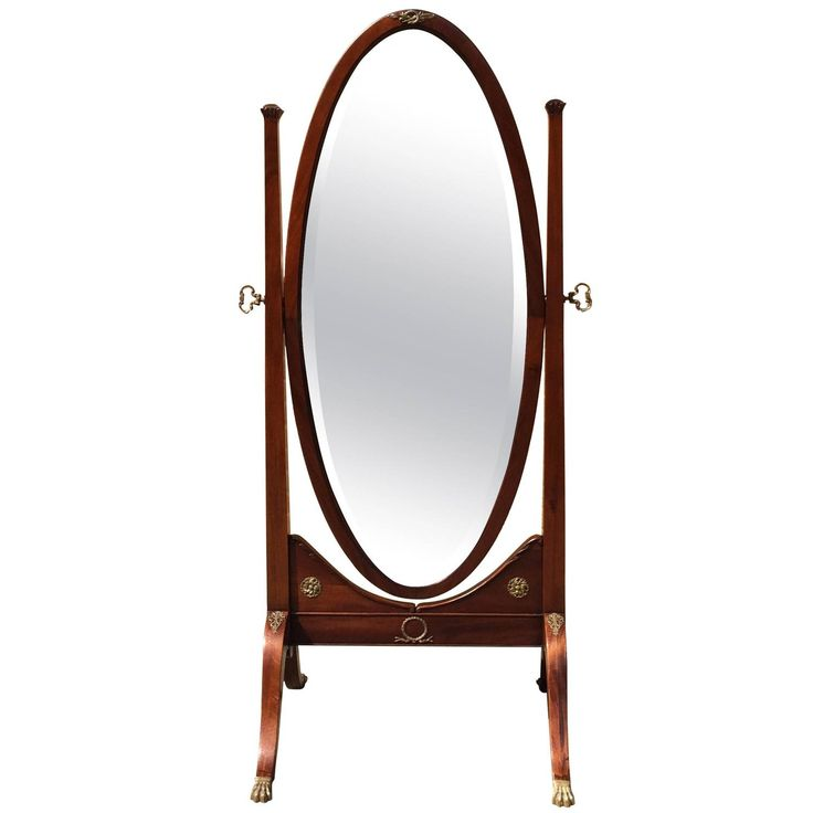 Antique Floor Length Mirrors | 19th Century Antique Mahogany Cheval Mirror at 1stdibs