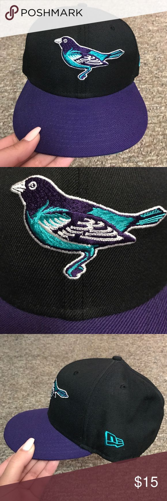 """MLB """"Baltimore Orioles"""" (O's) Fitted Hat -New Era Black, Purple, Teal & White MLB """"Baltimore Orioles"""" (O's) 59FIFTY Fitted Hat -New Era New Era Accessories Hats"""