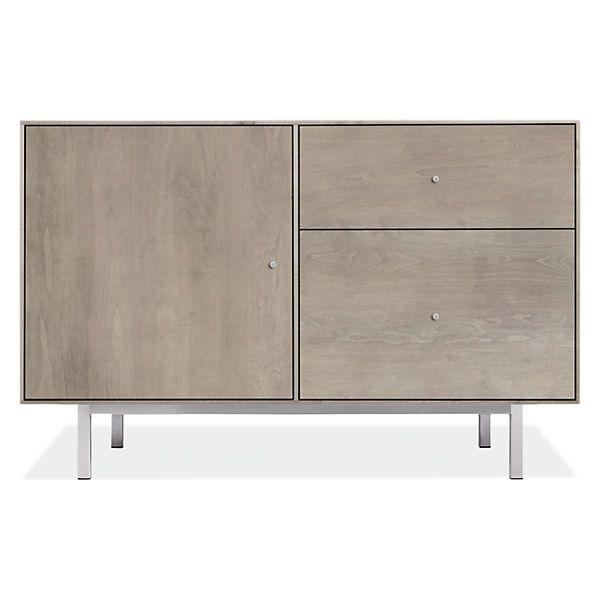 Room U0026 Board   Hudson 44w 20d 28h File Cabinet With Steel Base