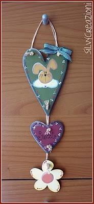 hearts and flowers/enfeite de porta corações e flores