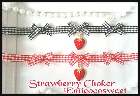 Cosplay Lolita Cute Kawaii Choker Handmade by emicocosweet on Etsy