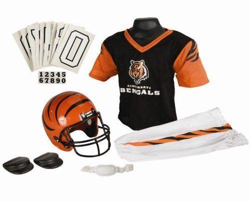 cincinnati bengals football deluxe uniform set size medium kids and youth nfl uniform sets