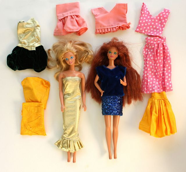 home-made barbie clothes