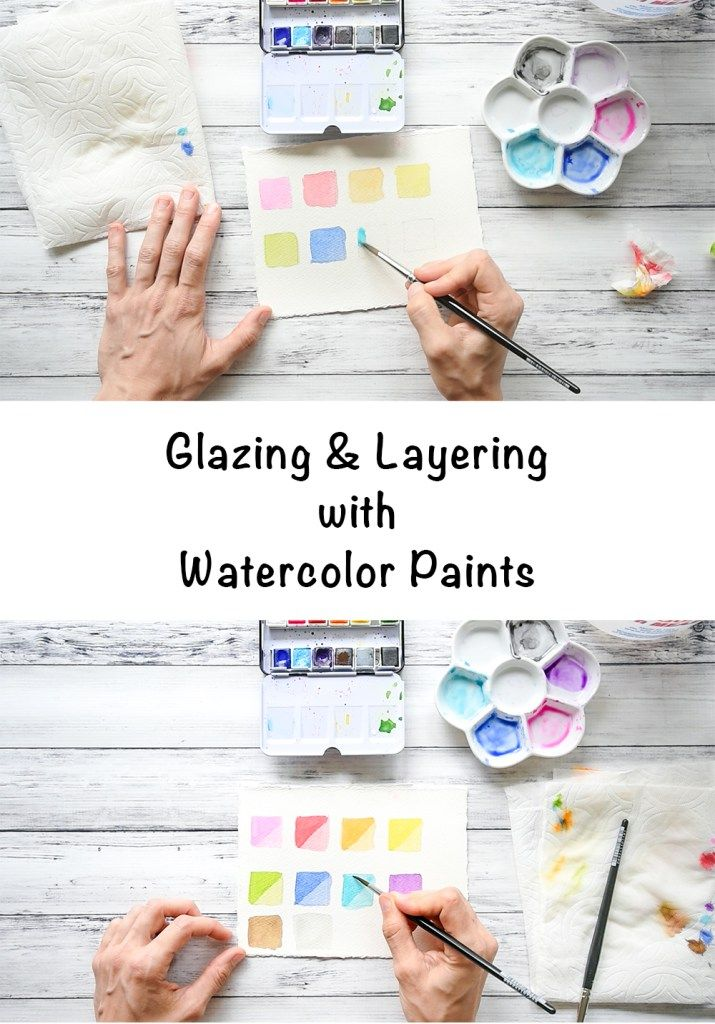 Glazed Layered Watercolor Swatches Tutorial How To Layer
