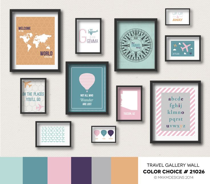 27 Best Travel Gallery Wall Color Choices Images On