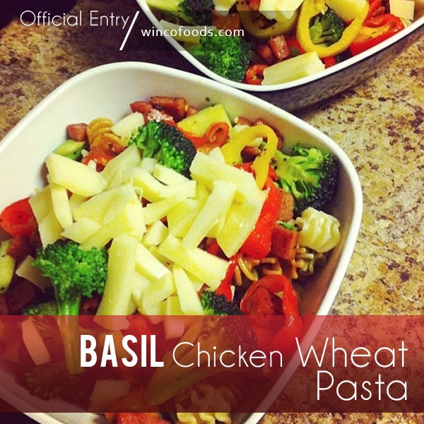 Basil chicken wheat pasta an easy healthy recipe that for What can i make for dinner with chicken
