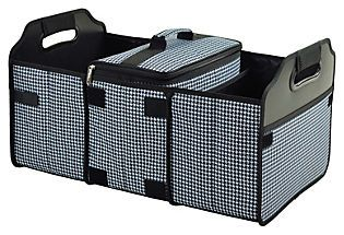 Trunk Organizer and Cooler, Black/White coupon code for 10% off: MENDP