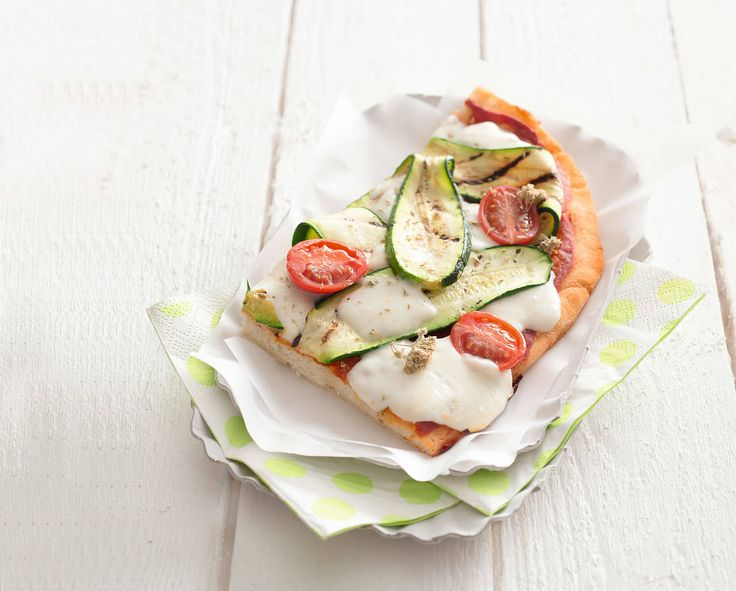 Pizza con stracchino alle verdure
