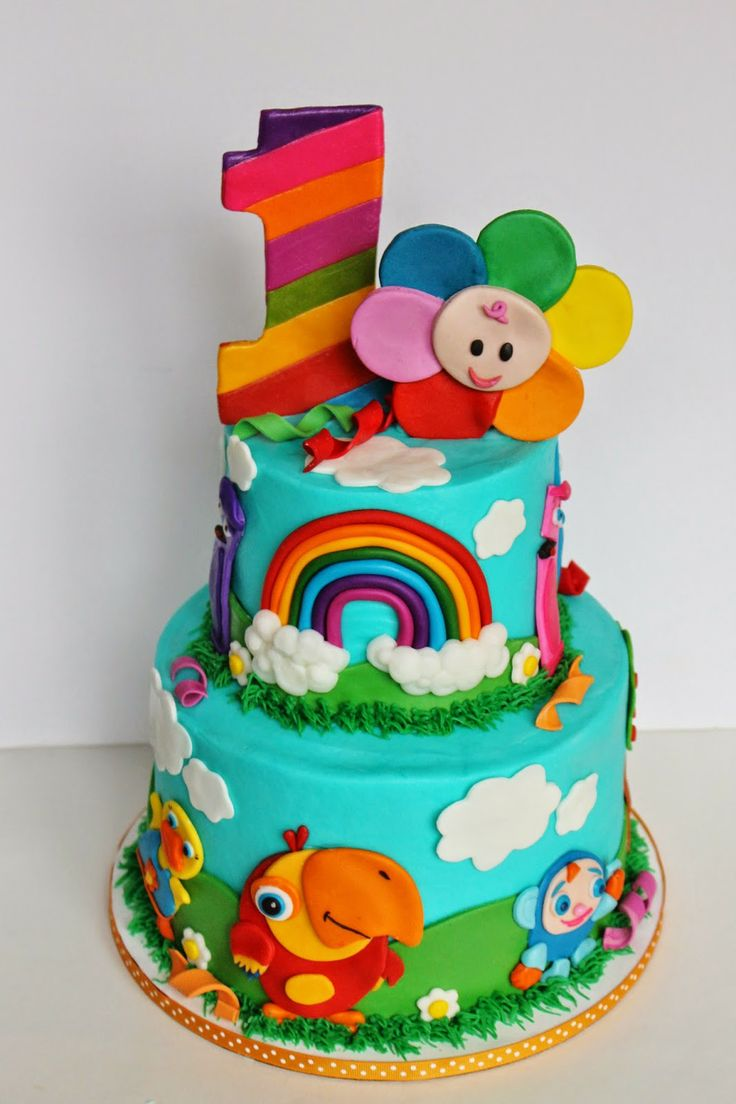 baby first birthday cake 2nd birthday birthday parties colorful cakes ...