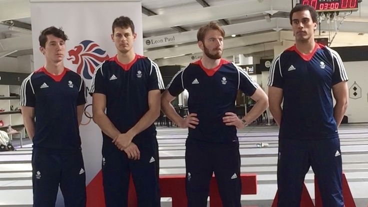 These young men are the elite of Britain's fencing team chosen for the Olympic Games 2016. The guys are hot and watch out in Rio!