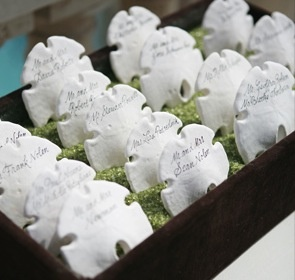 Seat Assignments Wedding Favors