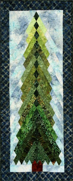 Tall Pines (4' tall) pattern by Sandi Irish | The Irish Chain, www.irishchain.com