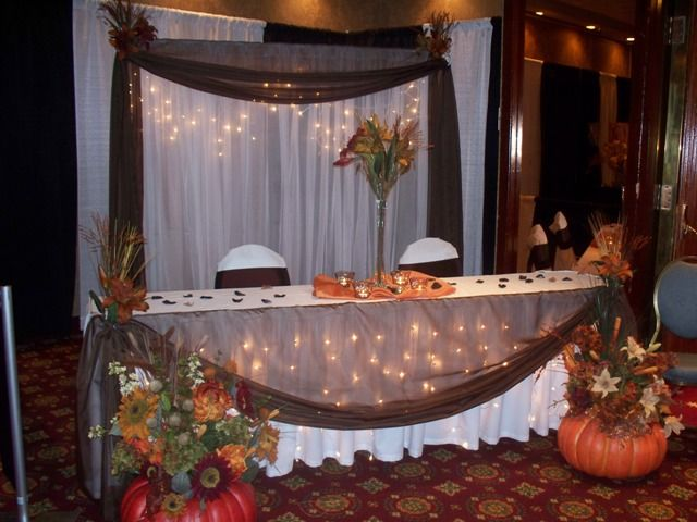 Head Table Decorations For Fall Wedding