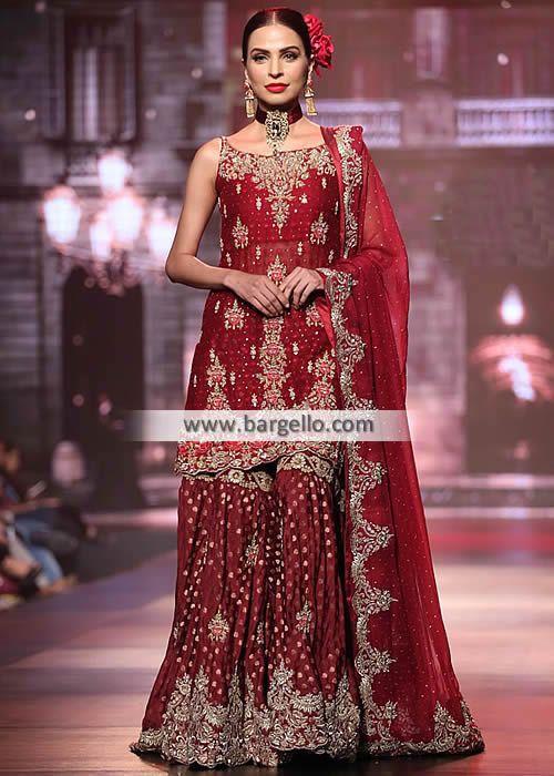 Unique Breathtaking Traditional Wedding Dresses San Francisco California CA USA Wedding Gharara Pakistan