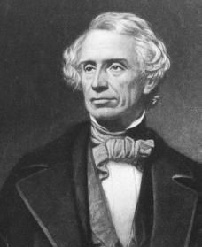 Samuel F. B. Morse. Courtesy of the Library of Congress. - Inventor of the telegraph and Morse Code, 1843.