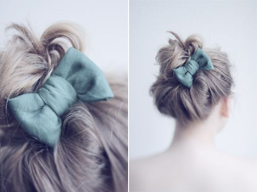 Bow bow: Hairbows, Cute Bows, Dresses Up, Bows Buns, So Cute, Cute Hair, Messy Buns, Hair Bows, Buns Bows