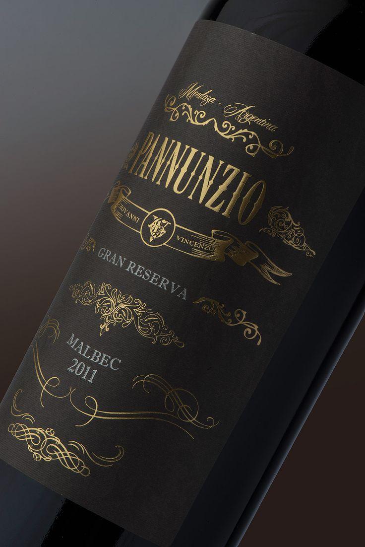 Diseño Etiqueta de Vino / Wine label Design PANNUNZIO #taninotanino