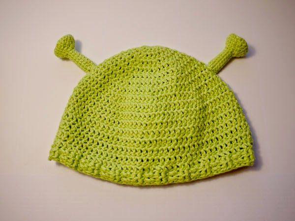 Lustige Shrek-Mütze selbstgehäkelt