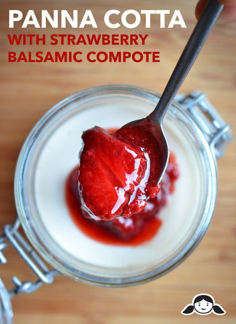 Panna Cotta with Strawberry Balsamic Compote by Michelle Tam http://nomnompaleo.com