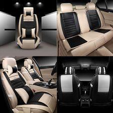 PU Leather Auto Seat Covers for Honda Civic Car Protector Cushion 5-Seats