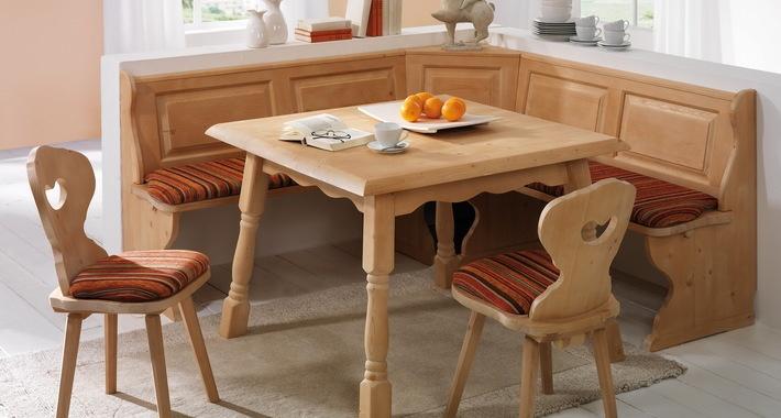 Wood Breakfast Nook Furniture ~ Alrberg breakfast nook corner bench kitchen booth solid