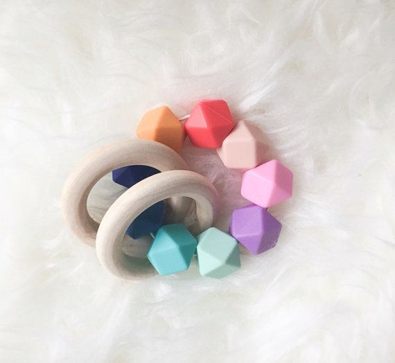 Trend To Wear: EASTER SALE Baby Teething Toy Wooden Teether Rainb...