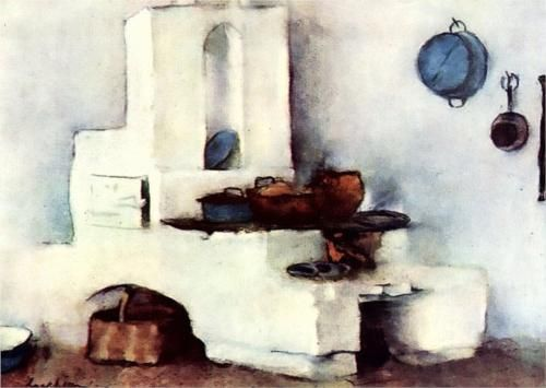 Kitchen - Stefan Luchian - Romanian. . . Luchian suffered from MS later in life and died at age 49.  He continued to paint with the disease in an arm chair and finally with the brush tied to his wrist.