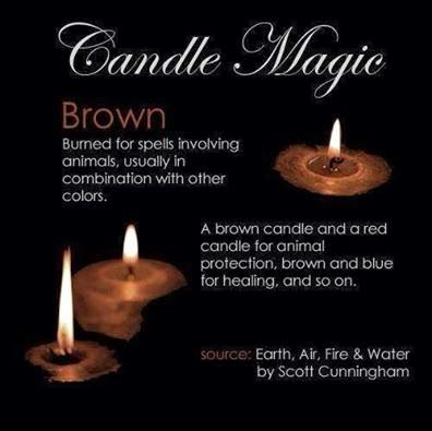 Candles: #Candle Magic ~ Brown.                                                                                                                                                                                 More