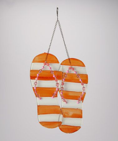 Take a look at this Orange Flip-Flop Wall Hanger by Dennis East International on #zulily today!