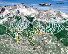Breckenridge Ski Resort Ski Trail Map