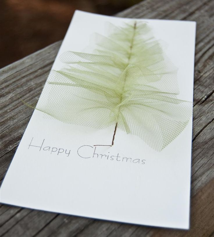 stitched Tulle Christmas Tree - love love love this idea I saw online