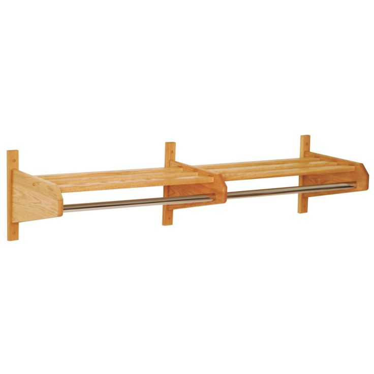 Have to have it. 72-Inch Double Wooden Wall Coat & Hat Rack - $67.99 @hayneedle