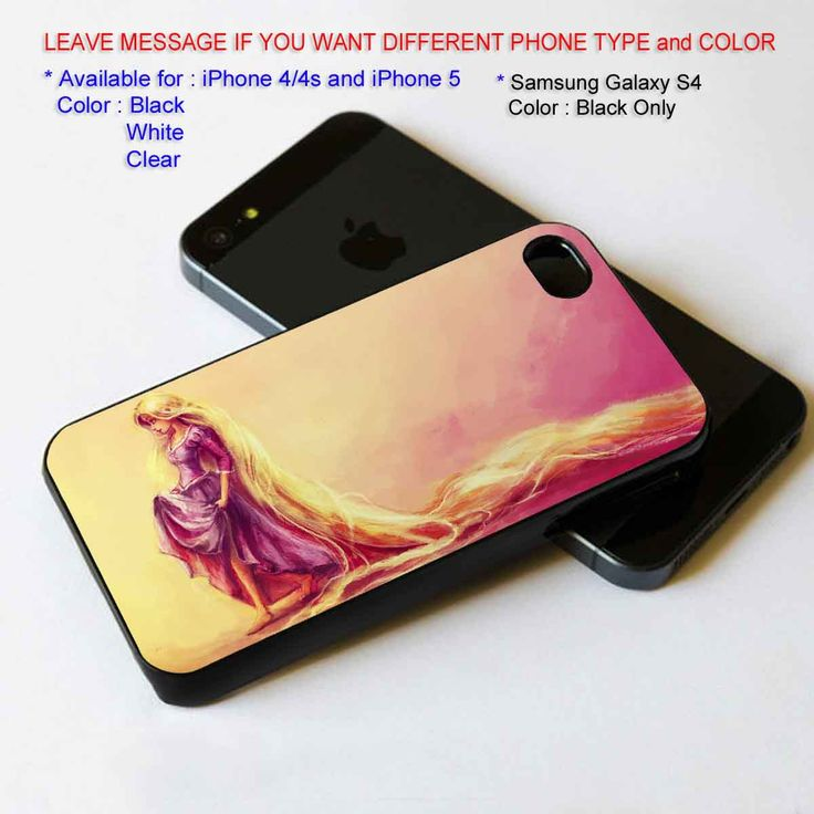 Rapunzel long hair iPhone 5 BLACK case