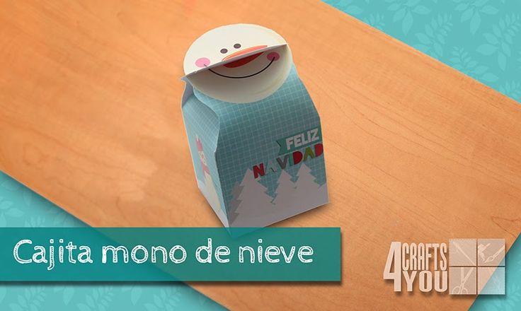 Caja de regalo navidad de muñeco de nieve / Christmas Gift Box Snowman