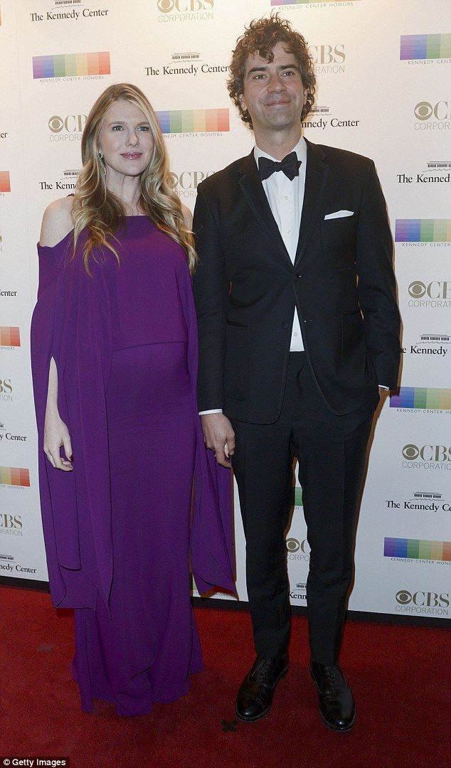Expecting:Hamish Linklater and actress Lily Rabe, seen here at the Kennedy Center Honors in Washington D.C. earlier this month, are expecting their first child together