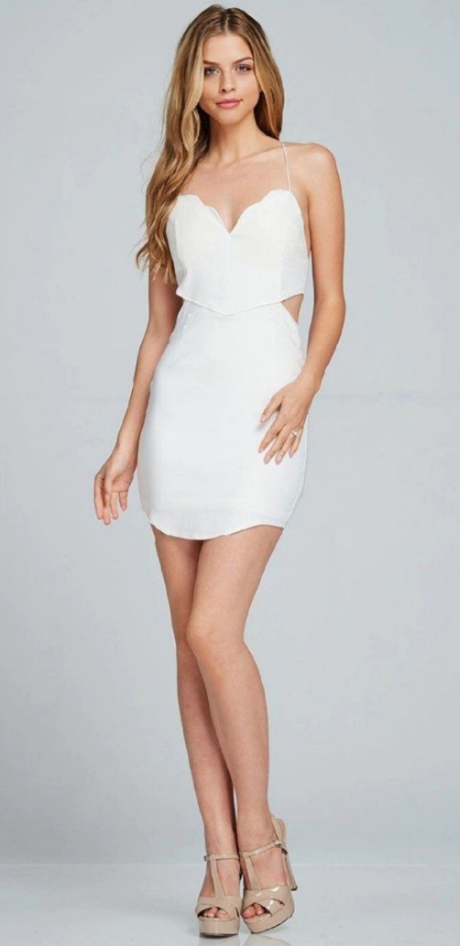 Pin by H14 14 on Beauty  Mini dress party, White mini party dress