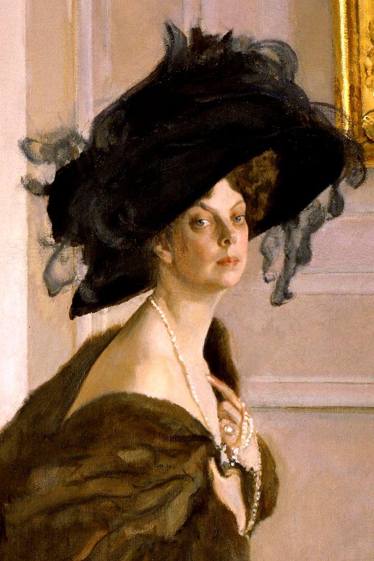 Princess Olga Orlova, 1911. (Detail.) by Valentin Serov