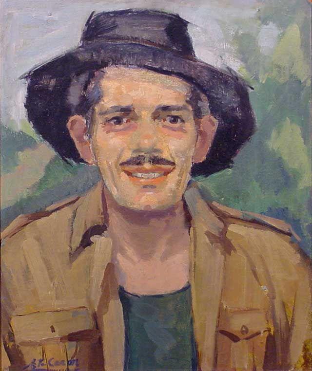 Zelfportret Etienne Caron (Venlo 1921- Maastricht 1986 )