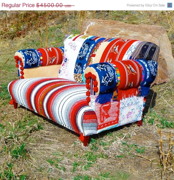 Rockabilly Retro Loveseat by vintagerenewal on Etsy, $3600.00: Patchwork Couch, Rockabilly Retro, Beautiful Bohemian, Retro Loveseats, Blankets, Rockabilly Loveseats, Vintage Couch, Sofas, Bohemian Furniture