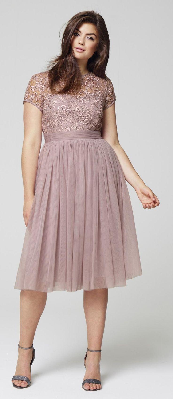 Plus Size Mesh Skater Dress