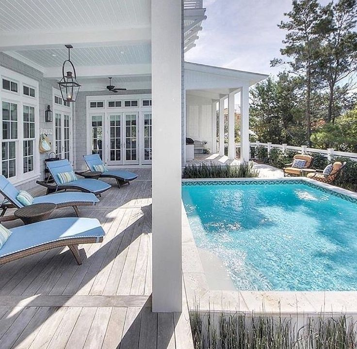Modern Pool House Decorating Ideas On A Budget34 Pool Patio Pool House Decor Swimming Pools
