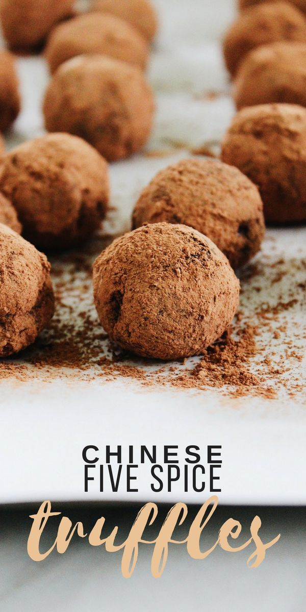 These Chinese Five Spice Chocolate Truffles are a unique and incredibly simple dessert. Just four ingredients create a delicious and decadent truffle.