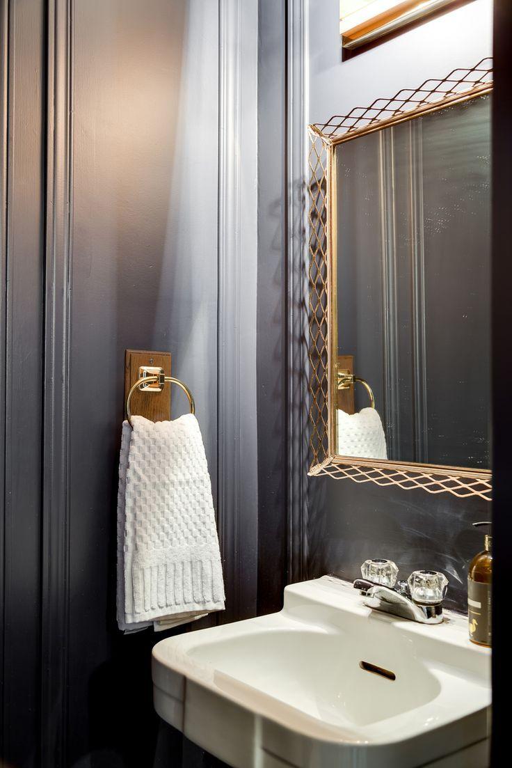 Moody Bathroom With Beautiful Finish Work Hibou Designs Co We