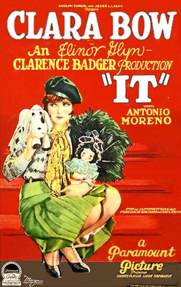 Clara Bow~ 'IT' 1927. AN AMAZING FUNNY SILENT FILM. I recommend this to anyone who says they don't like silent fils. It is hilarious.