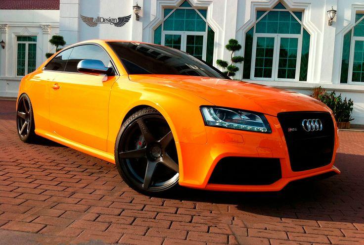 orange #Audi RS5 (pre-facelift)