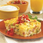 Hashbrown Breakfast Bake. One of my favorite recipes to serve when we have overnight guests. I make this without meat and it's delicious!
