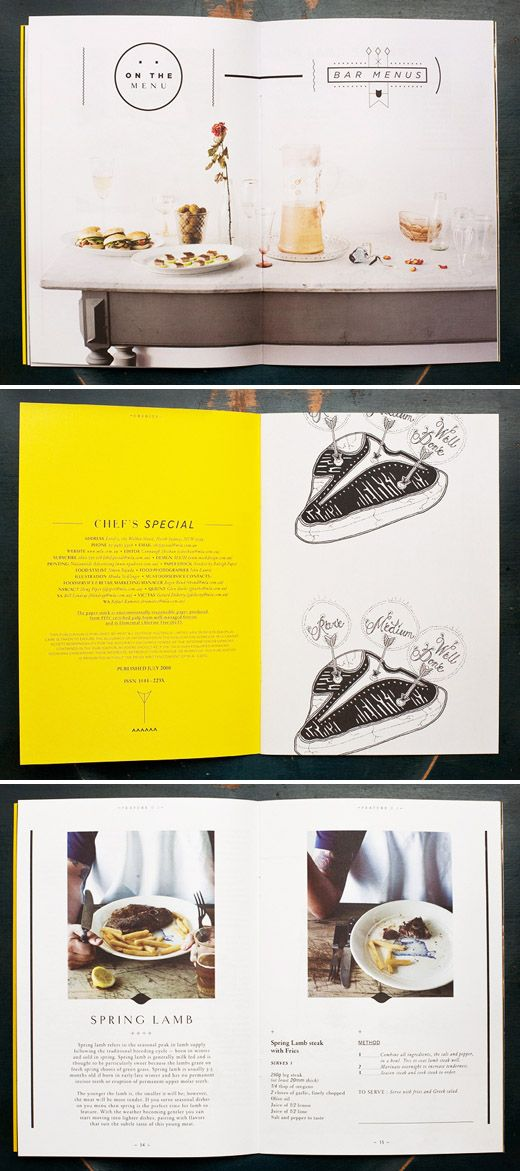'Chef's Special' – a seasonal print publication from Meat and Livestock Australia, designed by SA-based design studio Mash.