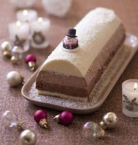 Bûche de Noël aux trois mousses au chocolat